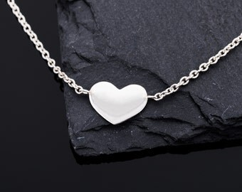 Listen to me, sweetheart. Necklace with Heart 925 silver//Valentine's Day gift//Love statement//Gifts for women//Love//Heart silver