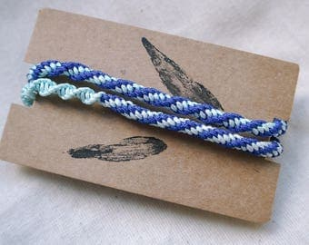 Traditional Blue Chinese Woven Bracelete/Necklace