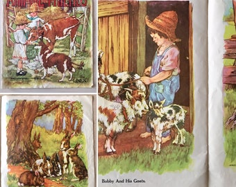 SALE- Vintage Linen Children's Book - 1950's