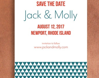 Save the Date - Geometric Triangles (5x7)