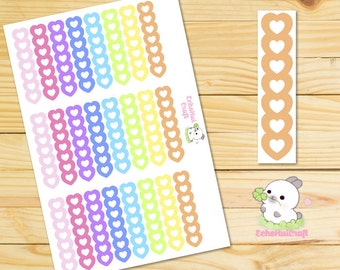 Heart Checklist Rainbow Functional Planner Stickers for use with Erin Condren Vertical Life Planner