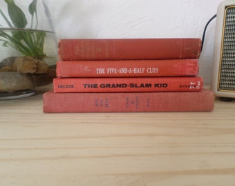 Vintage Shades of Red Book Stack