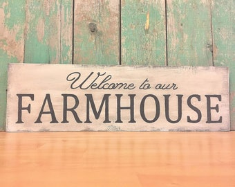 Farmhouse Sign - Farmhouse Decor - Farmhouse - Farmhouse Wall Decor - Farmhouse Rustic Decor - Welcome Home Sign - Farmhouse Home Decor