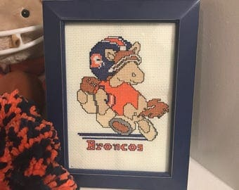 Denver Broncos NFL Huddle Cross Stitch