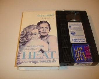 Andy Warhol Presents HEAT~1972~VHS~Mystic Fire Video~Sylvia Miles~Joe Dallesandro