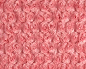 Coral Rose Minky / Cuddle Fabric / Shannon Fabric by the Yard