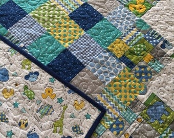 Child quilt, Puppy dogs, Dinosaurs, Elephants