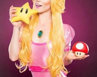 Princess Peach Cosplay Bodysuit