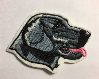 Adorable Black LAB Dog PATCH Detailed Stitching MINT Condition