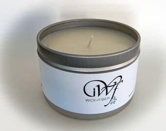 8 oz tin can Cinnamon Bun soy candle