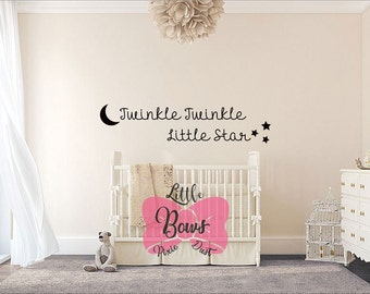 Twinkle Twinkle Little Star decal nursery decal wall decal nursery art custom lettering decal