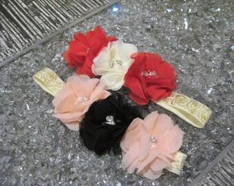 Tulle flower headband stretch headband baby headband infant headband flower girl hedband hair accessories newborn headband