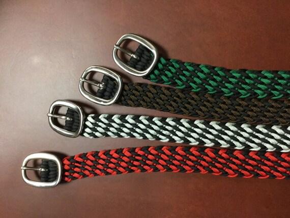 paracord belt dual color braid 1 inch wide