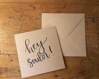 Hey Sailor! Valentines card