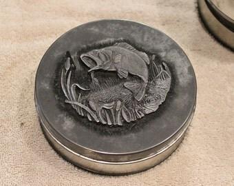 Vintage Metzke Pewter Fish Tin