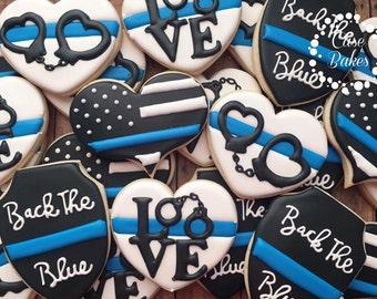 Back the blue cookies - 1 dozen
