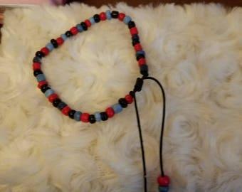 Beaded adjustable bracelet