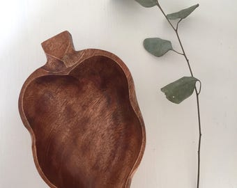 Wooden Leaf Bowl