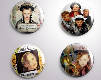 4 CULTURE CLUB  pins / buttons / magnets - Different options