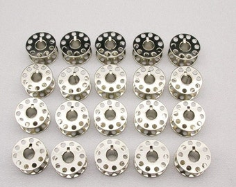 Class 15 Metal Bobbins Fits Singer, White, Kenmore, Brother, New Home