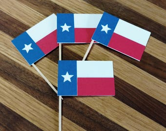 Texas Flag Cupcake Toppers