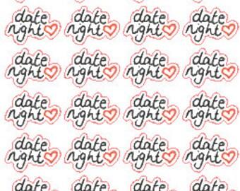 Date Night // Stickers // Personal Filofax // Erin Condren // Planner
