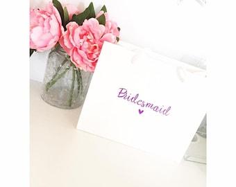 Bridesmaid Gift Bag Personalized
