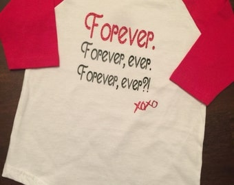 Forever ever Baseball tee // Valentines Day Tee // Forever ever?! // Kids love baseball tee // xoxo