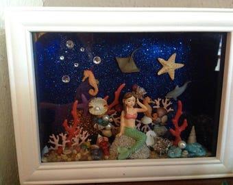 Under the sea mermaid shadow box
