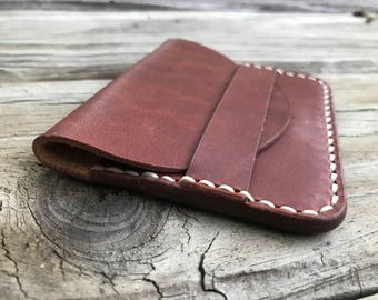 Leather Wallet, Handmade Leather Flap Wallet, Minimalist Wallet, Leather Card Holder,