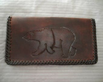 Leather check book cover