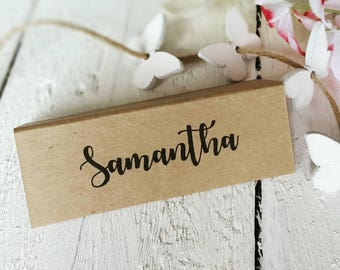 Wedding name cards - wedding place names - kraft rustic place names - wedding - rustic country wedding place name cards - personalised