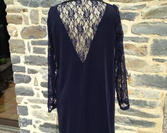 Dress Jersey Milano and lace (back and sleeves)