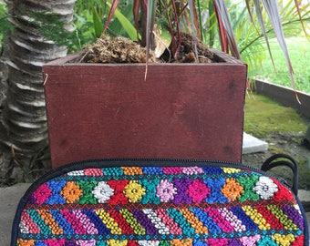 Hand woven huipil sunglass case