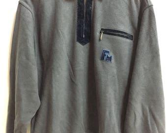 Vintage Mountain Flag sweatshirt half zip