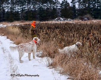 Bird Dogs Canvas Picture Print, wall design ideas, wall decoration ideas, Living Room decor ideas, canvas wrapped photos, Free Shipping