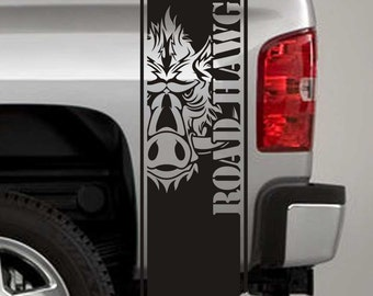 Truck Bed Stripe Decals - Road Hawg Stickers - Universal Fit (Pair x2)