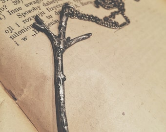 HAND CARVED sterling silver ALGIZ Elhaz Rune pendant, necklace oxidized silver Darkwood, Viking, Norse, nature, occult, esoteric, protection