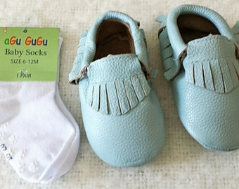 baby moccasins,genuine leather, baby socks, leather baby moccs, baby tassel, baby girl shoes,soft sole shoes, leather baby shoes, baby gifts