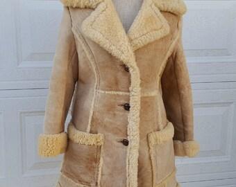 Vintage Cooper Design Outerwear Misses Sherling Jacket Coat Sz S-M