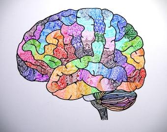 The Rainbow Brain (Original Drawing)