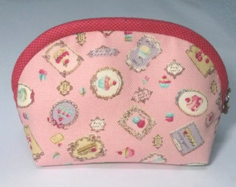Lovely Cartoon Canvas Cosmetic Bag, Fabric Cosmetic Bag, Canvas Makeup Bag