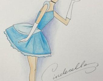Disney Princess Watercolors (Cinderella)