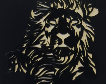 lasercut Acryl Lion Painting 30x 30 Cm