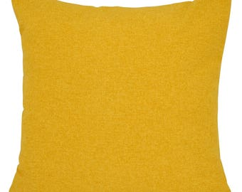 Brushed Shetland Mustard Yellow Cushion with Fillers Various Sizes 28cm , 36cm, 43cm , 60cm