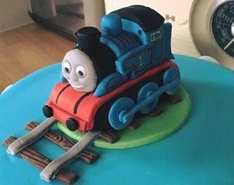 Thomas the tank engine cake topper