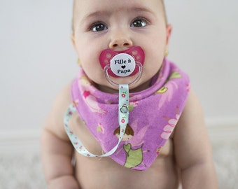 Bavana for baby girl with tied - sucks