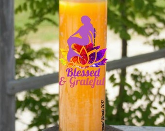 Blessed and Grateful Affirmation Candle// Blessed Candle Prayer//Candle ScentedCandle//Valentine gift// Attraction Candle//7 day Candle