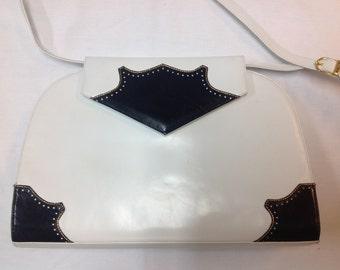 Vintage BALLY 2 tone leather handbag