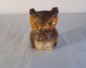 Alabaster Owl Paperweight